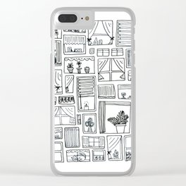 Watchful Windows Clear iPhone Case