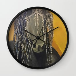 Yellow Horse Wall Clock