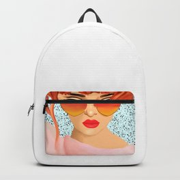 The Girl With The Heart Glasses Backpack