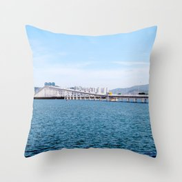 Macau Bridge Throw Pillow
