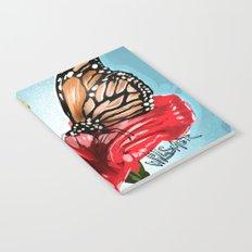 Butterfly on flower 2 Notebook
