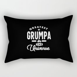 Mens Greatest Grumpa In The Universe Grandpa Gift Rectangular Pillow