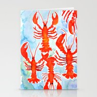 lobster Stationery Cards featuring Lobster by Julie Lehite