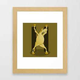 Pony Monogram Letter H Framed Art Print