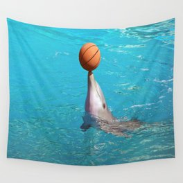 Dolphin and Ball Wall Tapestry
