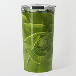 COLLAGE GRAY-GREEN  SUCCULENTS  MODERN DESIGN Travel Mug