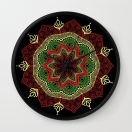 Black Doily Wall Clock