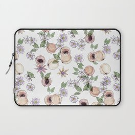 Watercolor pattern with apricots and flowers Laptop Sleeve