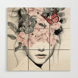 WOMAN WITH FLOWERS 10 Wood Wall Art