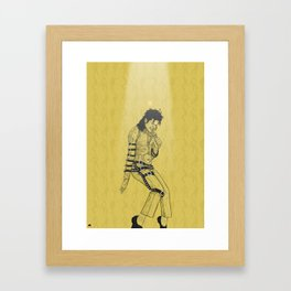 KingOfPop. (gold) Framed Art Print
