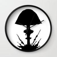 mushroom Wall Clocks featuring Mushroom by Kristijan D.