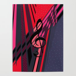 Lively Musical Dimensions Poster