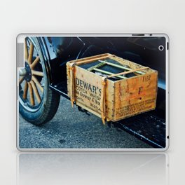Whiskey box on a vintage car side board Laptop & iPad Skin