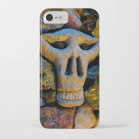 minerals iPhone & iPod Cases featuring skull and minerals by giol's