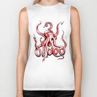 gangster Biker Tanks featuring Gangster Octopus by Milo Firewater