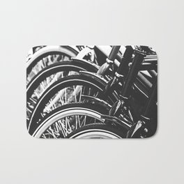 Bicycles, Bikes in Black and White Photography Bath Mat