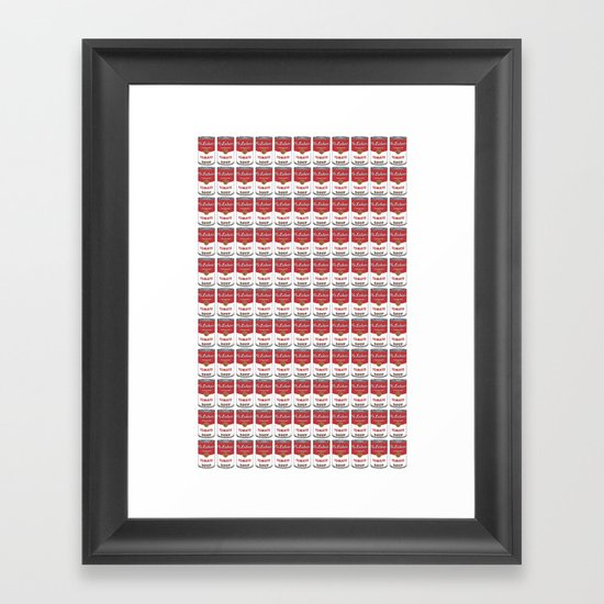 The Can of Soup in the Age of Mechanical Reproduction Framed Art Print