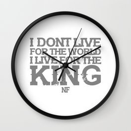 NF MUSIC QUOTES Wall Clock