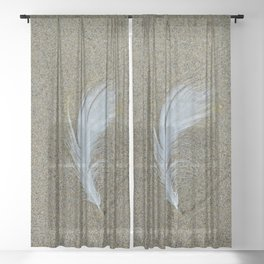 Sand Surfer Sheer Curtain