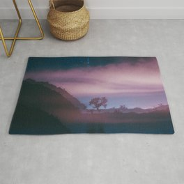 dreamy Joshua Tree at night Rug