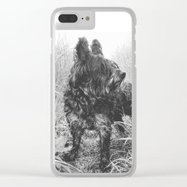 B&W Terrier Clear iPhone Case