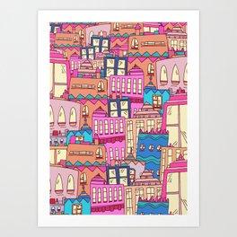 Mexican city Art Print