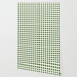 Simply Polka Dots in Jungle Green Wallpaper