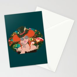 AfroPuff Hatter Stationery Cards