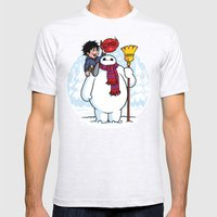 Inflatable Snowman SMALL Mens Fitted Tee Ash Grey
