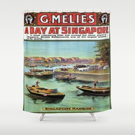 Vintage poster - Singapore Shower Curtain