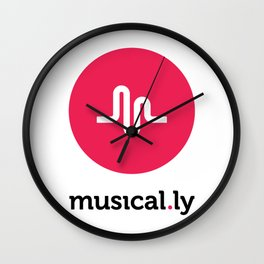 Musical.ly Wall Clock