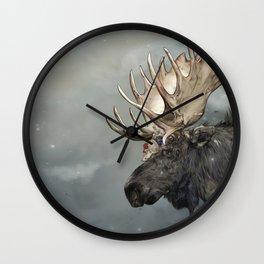 Eerik the Sami Shaman and Hirvi the Moose Wall Clock