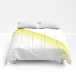 Yellow Strip Shades Comforters