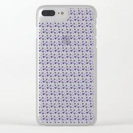 Purple Heart Pattern Clear iPhone Case