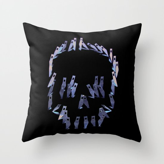 123. Blade Skull Throw Pillow