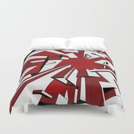 Radial Boxes Duvet Cover