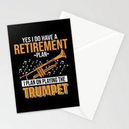 Trumpet Musician Musical Instrument Trumpeter Jazz Stationery Cards