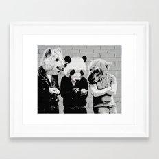 Bears Bare on Break Framed Art Print