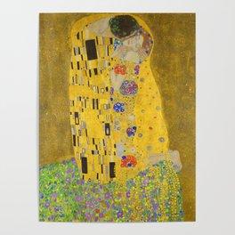 Gustav Klimt The Kiss Detail Poster