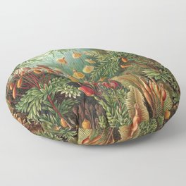 Vintage Plants Decorative Nature Floor Pillow