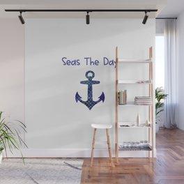 Seas The Day Sailing Big Boat Anchor Wall Mural