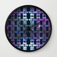 shining Wall Clocks featuring Shining Shapes by Nahal