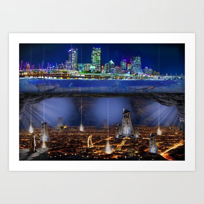 Under Brisbane Art Print