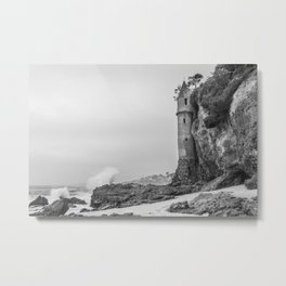 Stormy Day at the Pirate Tower Metal Print