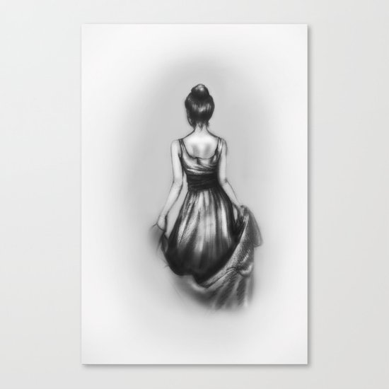 polite girl Canvas Print