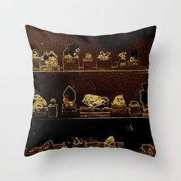 Mineral City I Throw Pillow