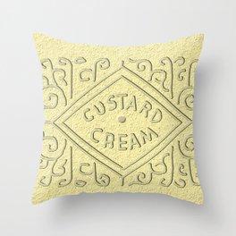 Custard Creamed Throw Pillow
