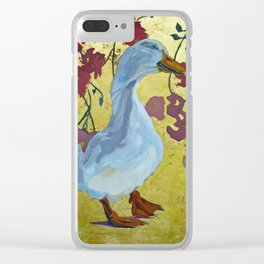 Lucy the Peking Duck Clear iPhone Case