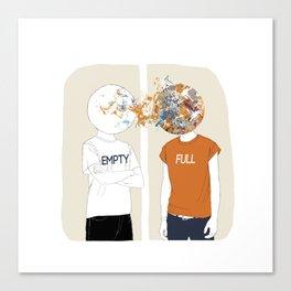 EMPTY-FULL Canvas Print