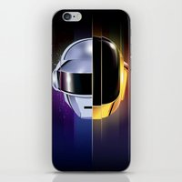 daft punk iPhone & iPod Skins featuring Daft Punk by Alevan
